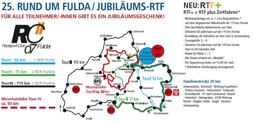 Streckenplan zu unserer RTF